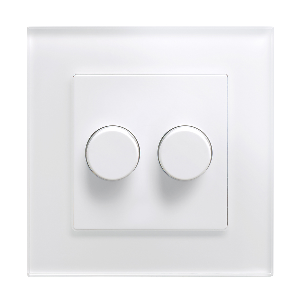 Crystal Pg 2g Rotary Led Dimmer Switch 2 Way White Retrotouch Light
